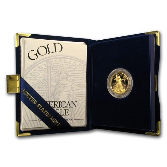 1996-W 1/4 oz Proof American Gold Eagle (w/Box & COA)