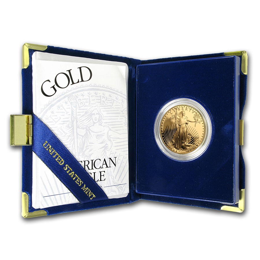 1996-W 1 oz Proof Gold American Eagle (w/Box & COA)