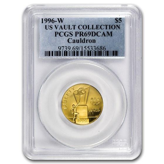 1996-W Gold $5 Commem Cauldron PR-69 PCGS