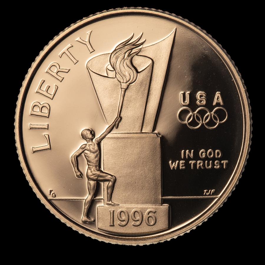 1996-W Gold $5 Commem Cauldron Proof (Capsule Only)