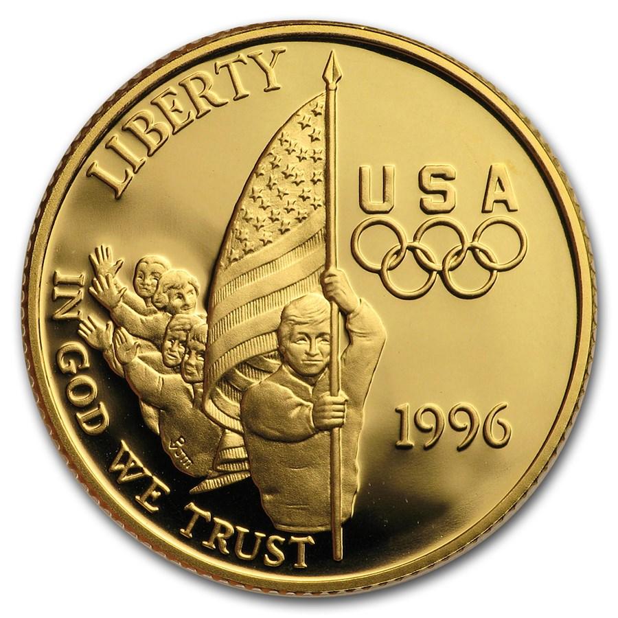 1996-W Gold $5 Commem Flag Bearer Proof (Capsule Only)