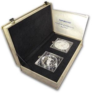 1996 Zaire 1.5 kilo Silver Endangered African Wildlife Proof Set