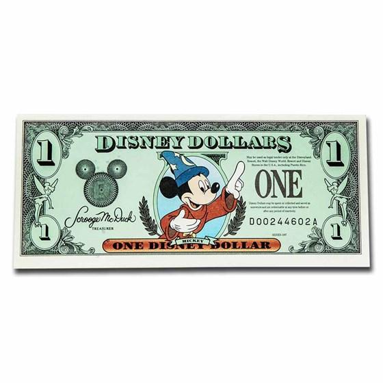 1997 $1.00 Disney World Sorcerer Mickey Gem AU