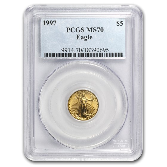 1997 1/10 oz American Gold Eagle MS-70 PCGS