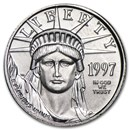 1997 1/10 oz American Platinum Eagle BU