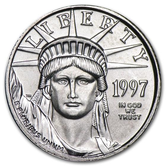 1997 1/10 oz American Platinum Eagle BU