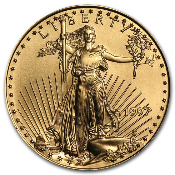 1997 1/2 oz American Gold Eagle BU