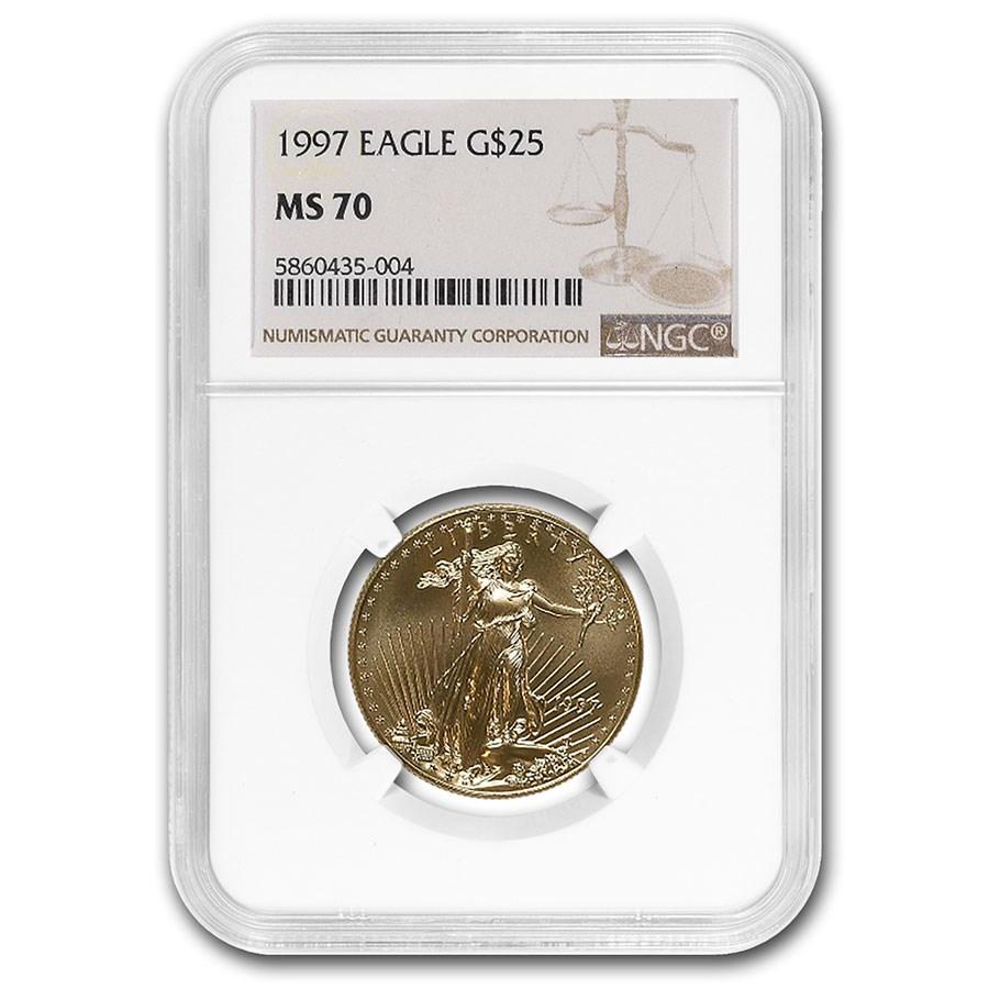 1997 1/2 oz American Gold Eagle MS-70 NGC