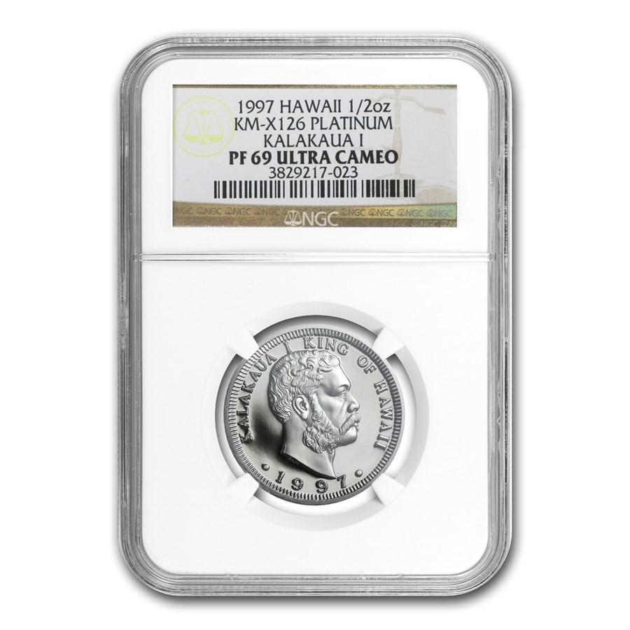 1997 1/2 oz Proof Platinum Hawaiian King PF-69 NGC