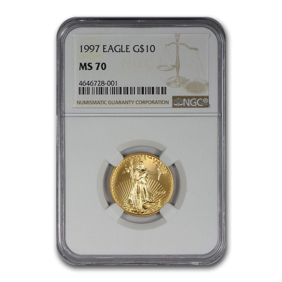 1997 1/4 oz American Gold Eagle MS-70 NGC
