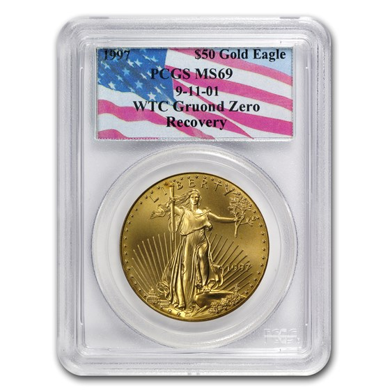 1997 1 oz American Gold Eagle MS-69 PCGS (World Trade Center)