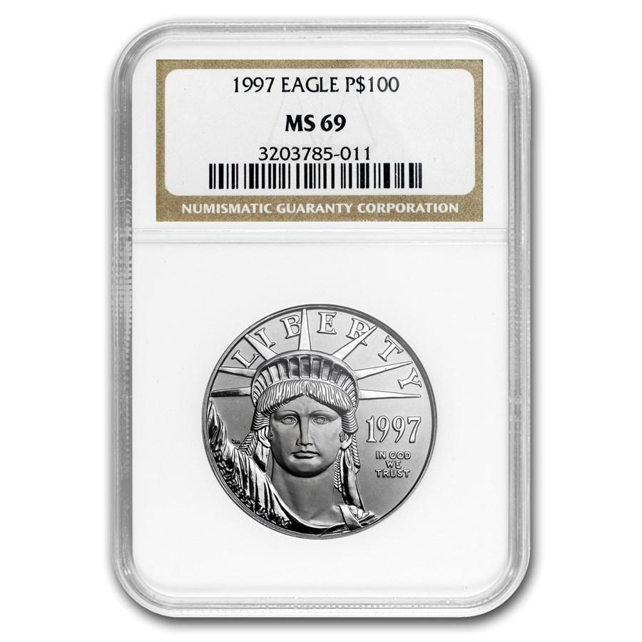 1997 1 oz American Platinum Eagle MS-69 NGC