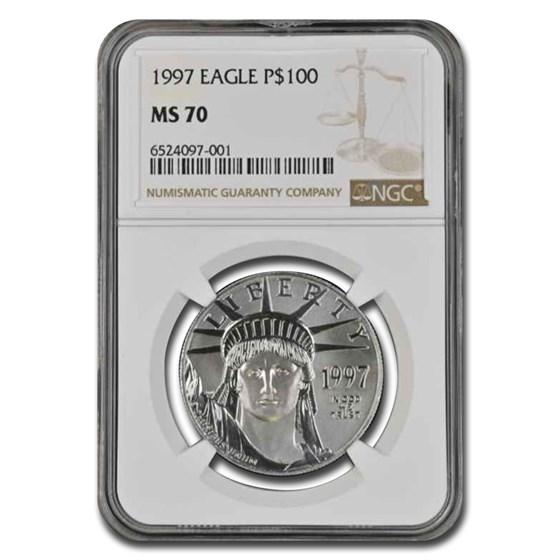 1997 1 oz American Platinum Eagle MS-70 NGC
