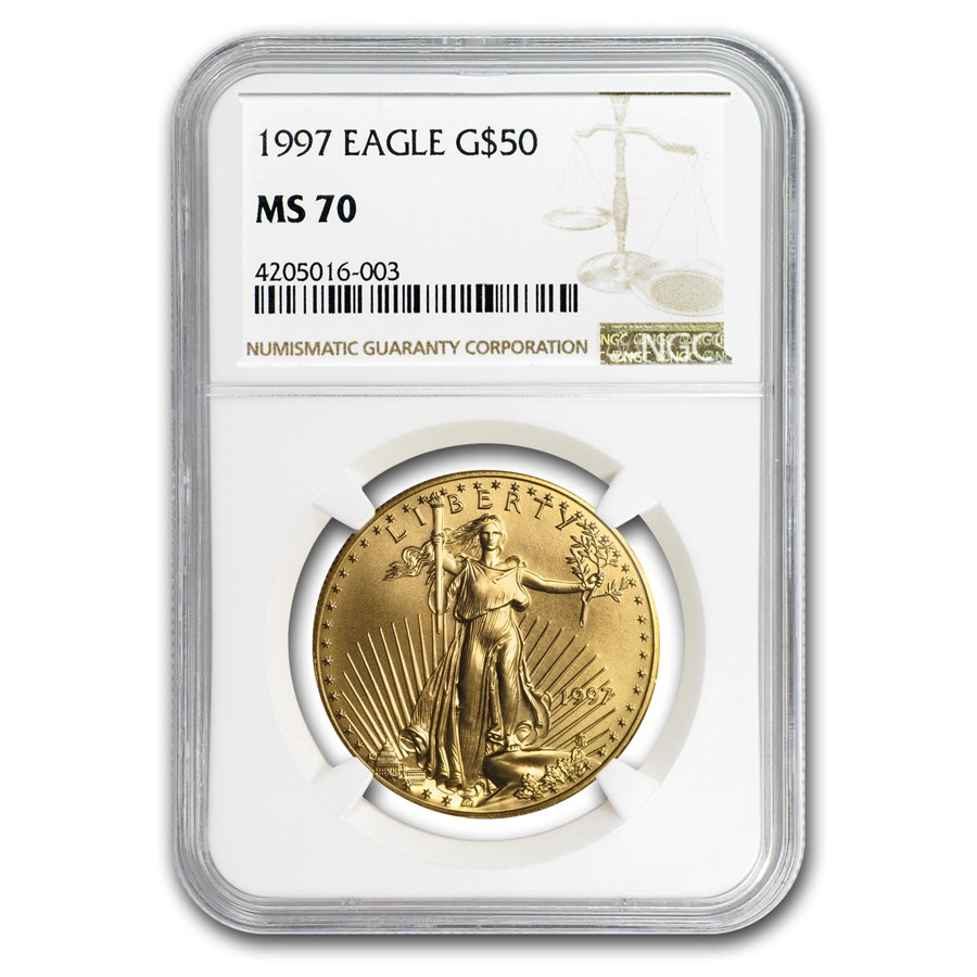 1997 1 oz Gold American Eagle MS-70 NGC