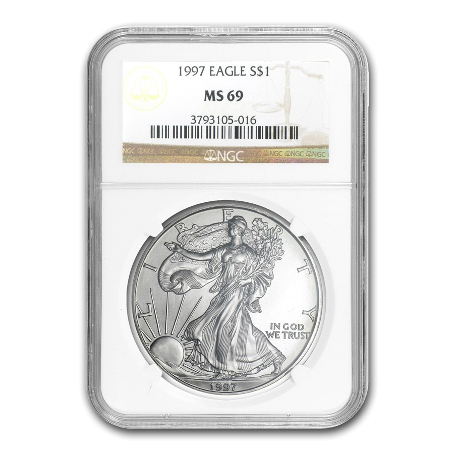 1997 American Silver Eagle MS-69 NGC