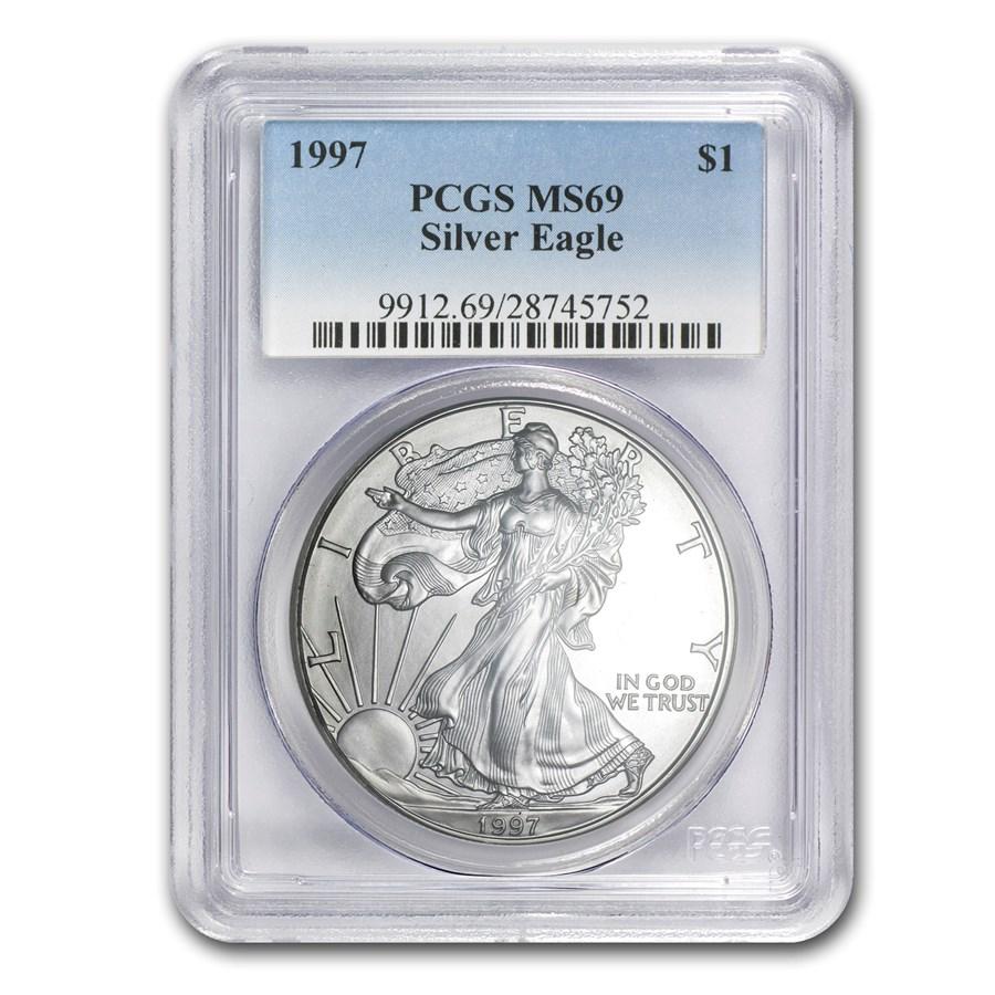 1997 American Silver Eagle MS-69 PCGS
