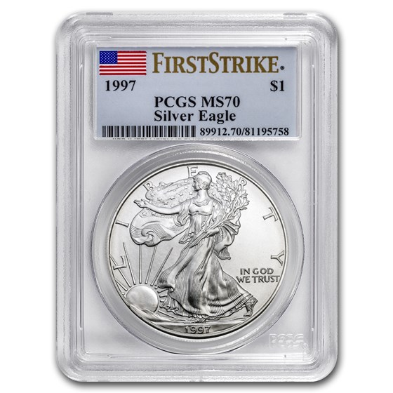 1997 American Silver Eagle MS-70 PCGS (FirstStrike®)