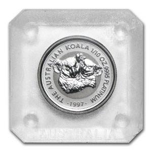 1997 Australia 1/10 oz Platinum Koala BU