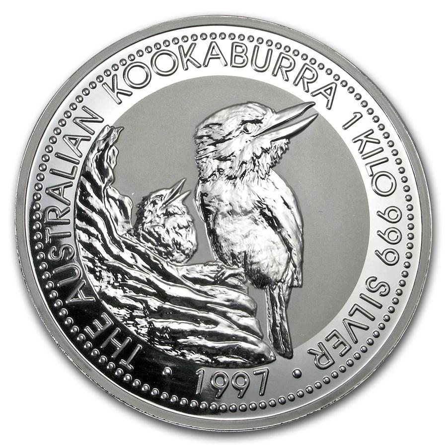 1997 Australia 1 kilo Silver Kookaburra BU
