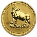 1997 Australia 1 oz Gold Lunar Ox BU (Series I)