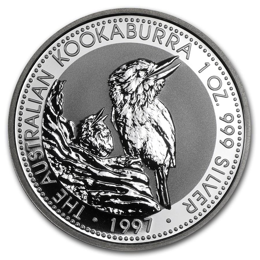 1997 Australia 1 oz Silver Kookaburra BU