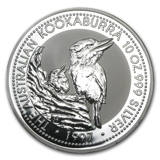 1997 Australia 10 oz Silver Kookaburra BU