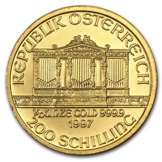 1997 Austria 1/10 oz Gold Philharmonic BU