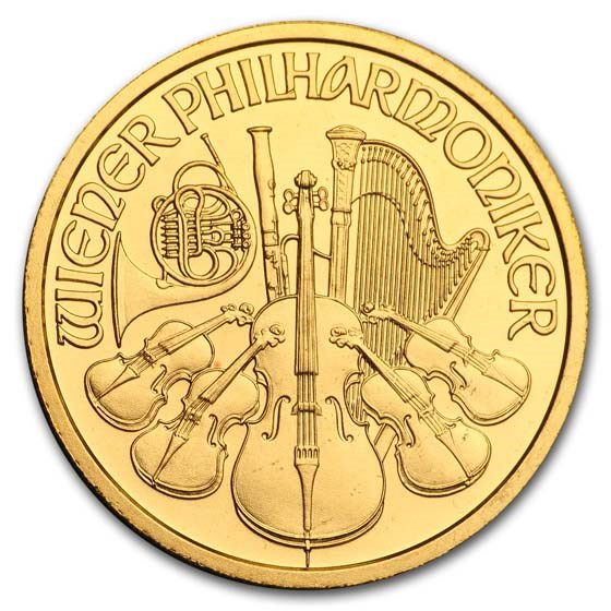 1997 Austria 1/2 oz Gold Philharmonic BU