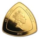 1997 Bermuda 1 oz Proof Gold $60 Sea Venture Triangle