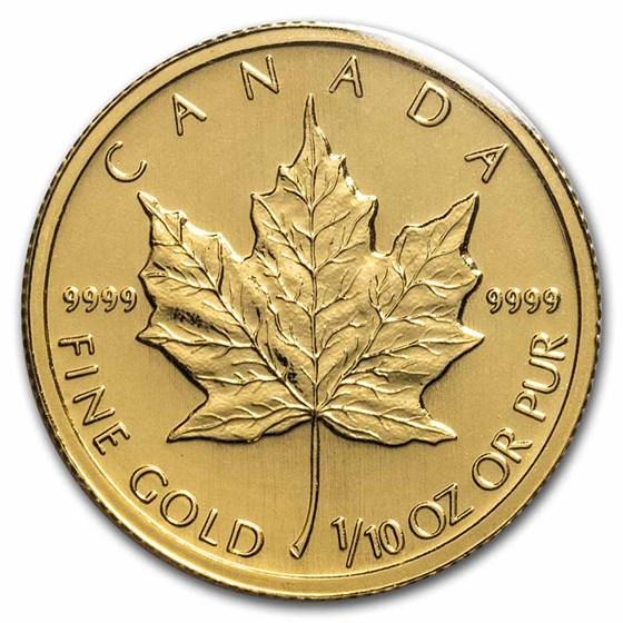 1997 Canada 1/10 oz Gold Maple Leaf BU
