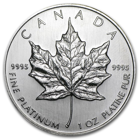 1997 Canada 1 oz Platinum Maple Leaf BU