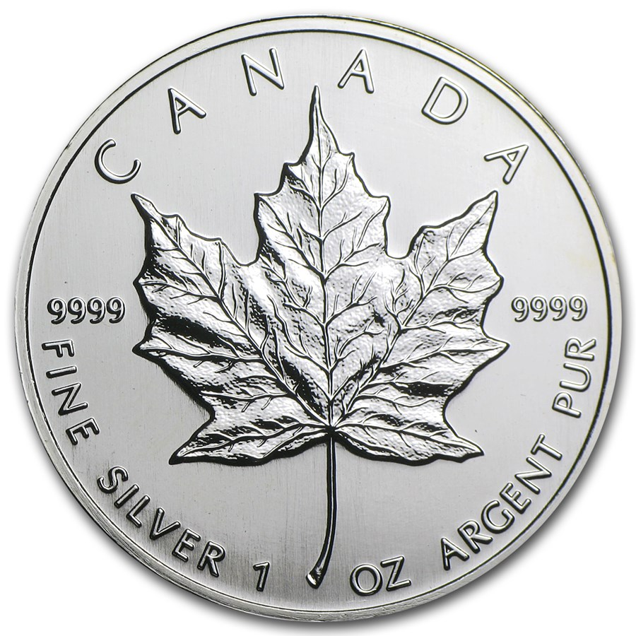 1997 Canada 1 oz Silver Maple Leaf BU