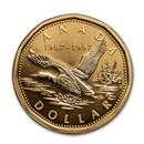 1997 Canada Aureate-Nickel Dollar 10th Anniv Loon BU Prooflike