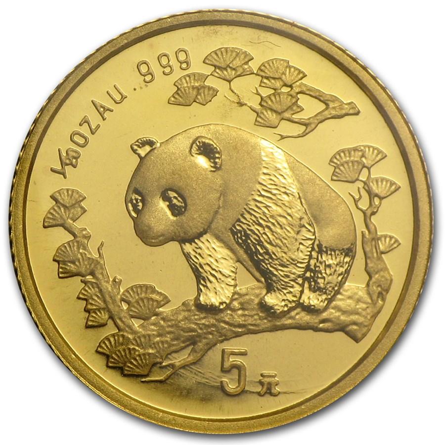 1997 China 1/20 oz Gold Panda Large Date BU (Sealed)