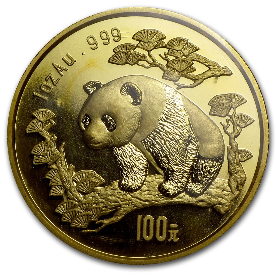 1997 China 1 oz Gold Panda Large Date BU (Sealed)