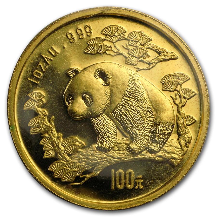 1997 China 1 oz Gold Panda Small Date BU (Sealed)