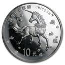 1997 China 1 oz Silver 10 Yuan Unicorn BU (Sealed)