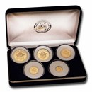 1997 Cook Islands 5-Coin Gold Love Angel Proof Set (1.083 oz)