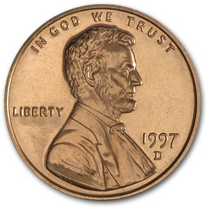 1997-D Lincoln Cent BU (Red)