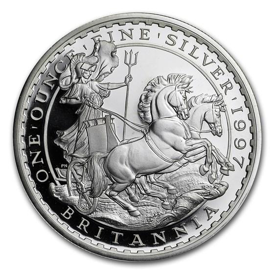 1997 Great Britain 1 oz Silver Britannia BU