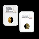 1997 Kiribati/Samoa 2-coin Gold $50 Proof Set PF-70 NGC