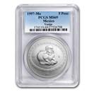 1997 Mexico 1 oz Silver 5 Pesos Vasija MS-69 PCGS