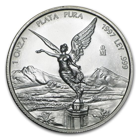 1997 Mexico 1 oz Silver Libertad BU