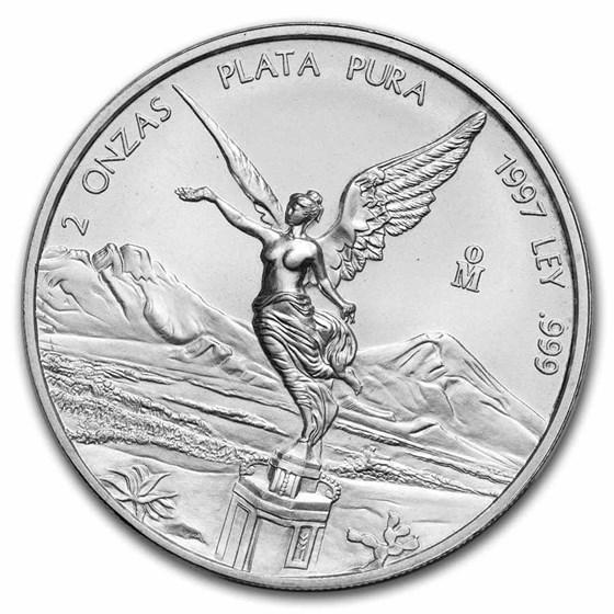 1997 Mexico 2 oz Silver Libertad BU
