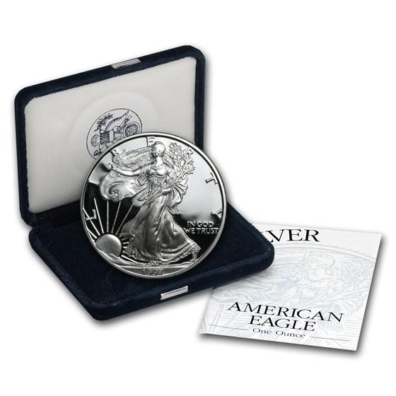 1997-P 1 oz Proof American Silver Eagle (w/Box & COA)
