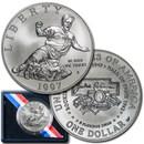 1997-S Jackie Robinson $1 Silver Commem BU (w/Box & COA)