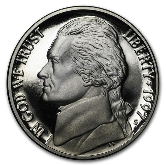 1997-S Jefferson Nickel Gem Proof