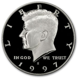 1997-S Kennedy Half Dollar Gem Proof