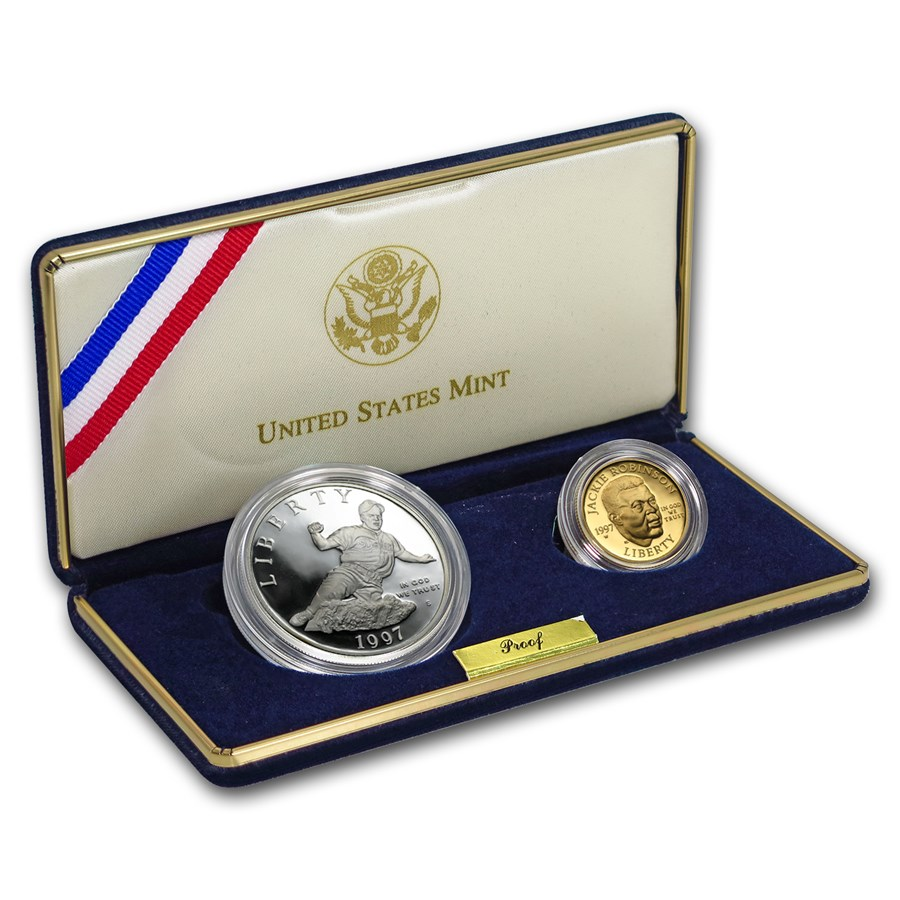 1997-S Two-Coin Commemorative Jackie Robinson Proof Set