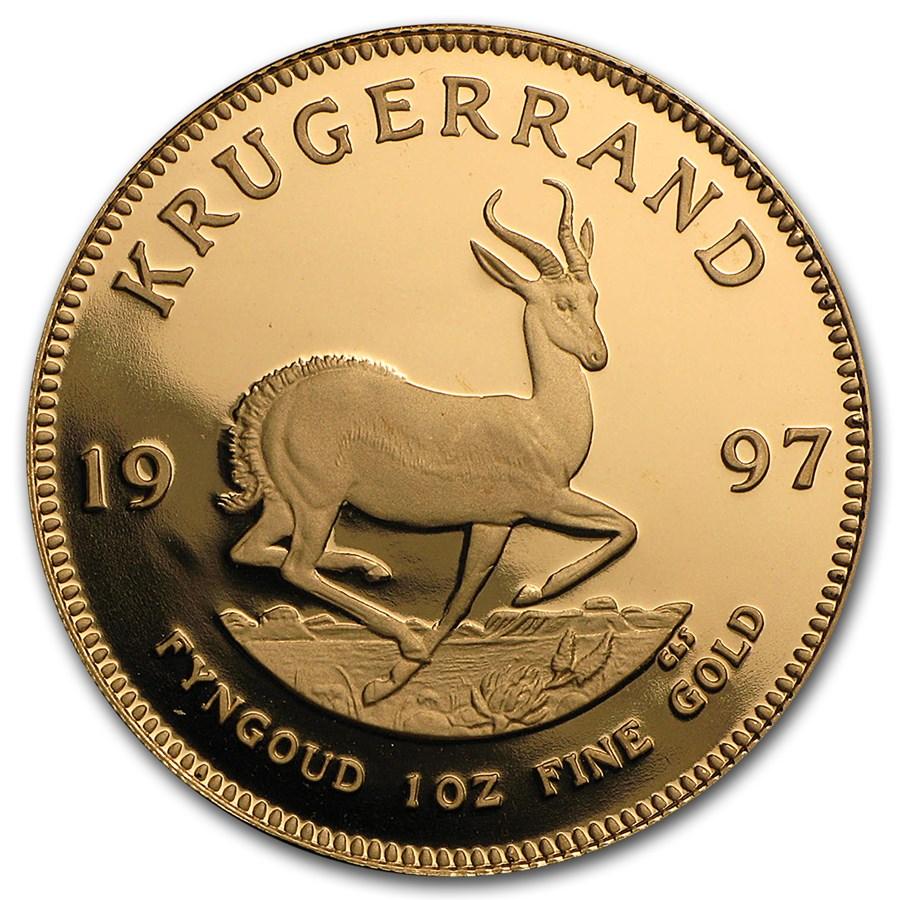 1997 South Africa 1 oz Proof Gold Krugerrand
